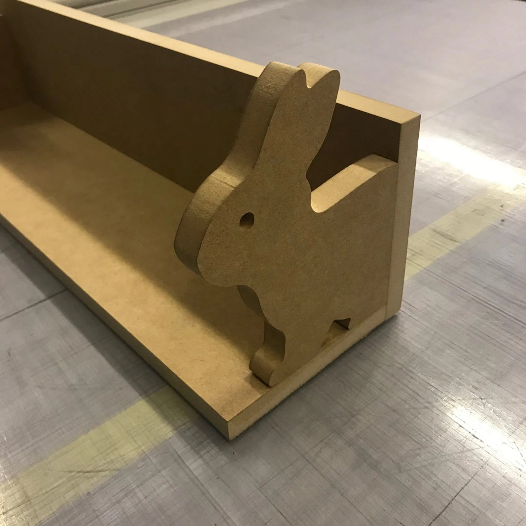 Bunny shelf, great for a nursey or kids room.