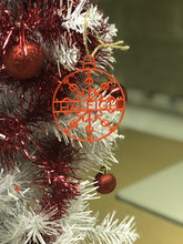Load image into Gallery viewer, Personalised Acrylic Christmas Snowflake Name Bauble