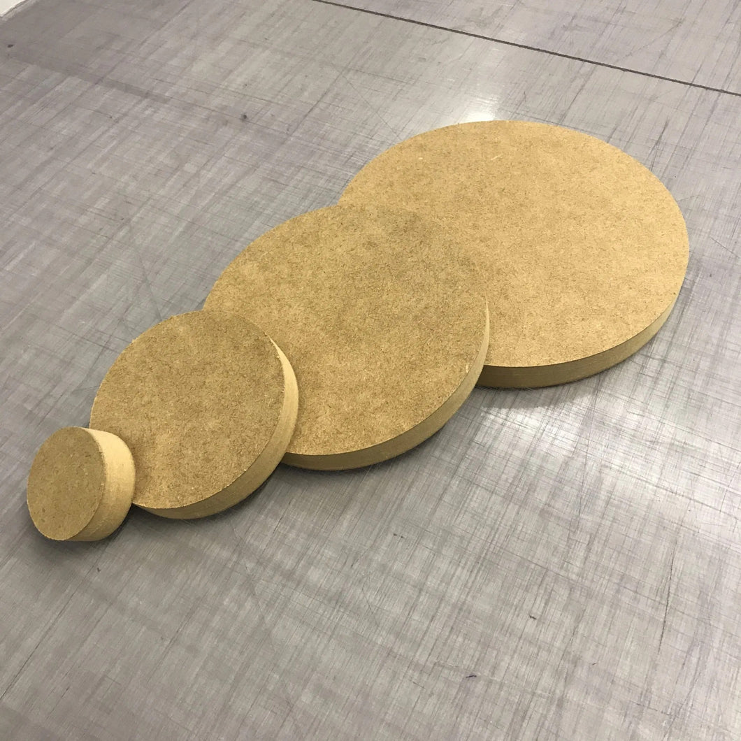18mm thick MDF Circles in a rage of diameters