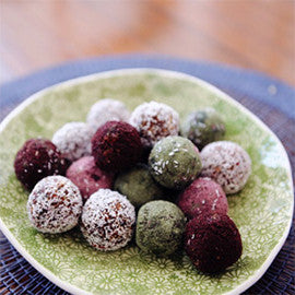 Colourful Chia Coconut Blissfood Balls
