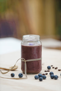 Refreshing Chilled Coffee with Blueberry and Maca