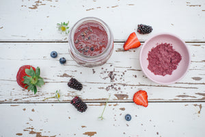 Super Antioxidant Berry-Cacao Smoothie