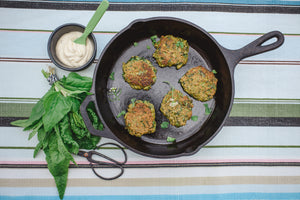 Chia Seed & Silverbeet Fritters (Dairy free)