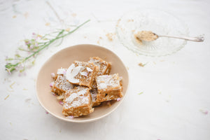 Lemon & Coconut Slice with Sacha Inchi