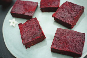 Raw Dark Chocolate Beetroot Brownies