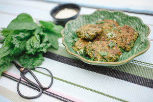 Blue Cheese & Chia Seed Fritters