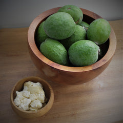 Feijoas and cacao butter