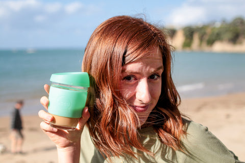 Ethically Kate with a JOCO cup from Be Vibrant