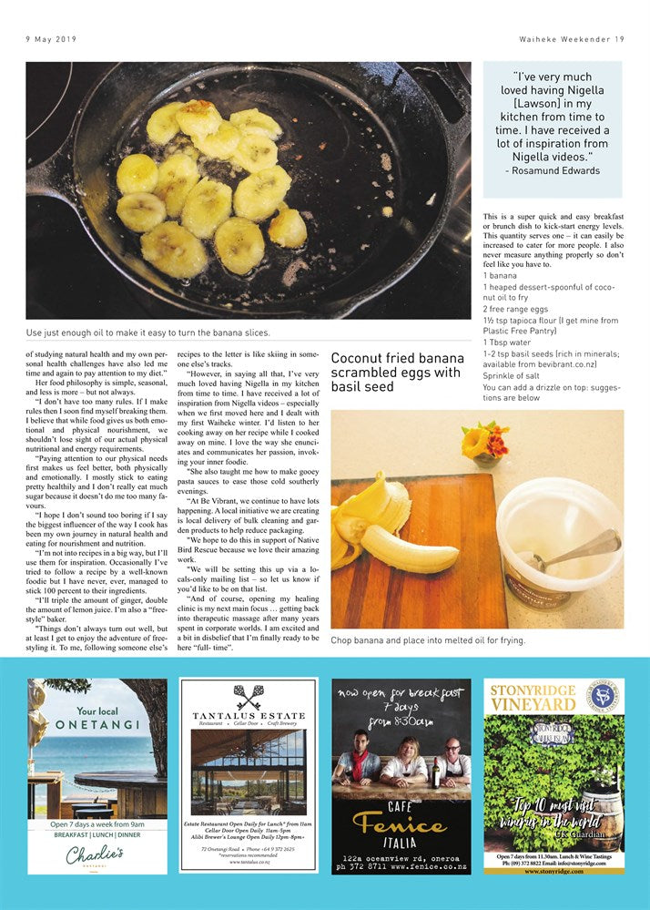 Waiheke Weekender Epicurean Column Page 2