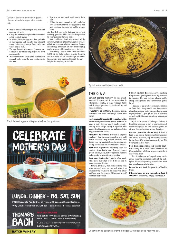 Waiheke Weekender Epicurean Column Page 3