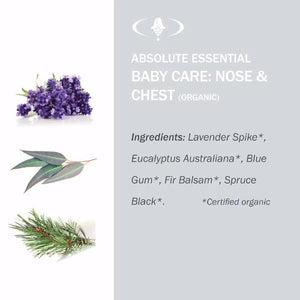 Absolute Essential Baby Care: Nose & Chest (Organic): Ingredients.