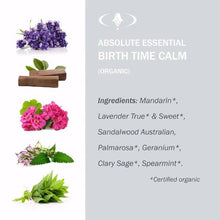 Absolute Essential Birth Time Calm (Organic): Ingredients.