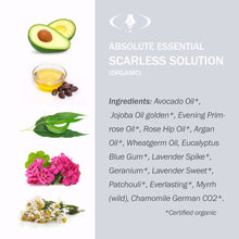 Absolute Essential Organic Scarless Solution Ingredients.