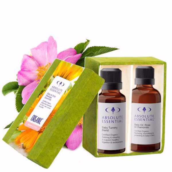 Absolute Essential Baby and Child: Massage Essentials (Organic) is a beautiful set of 2 blends that are completely pure and baby-safe.