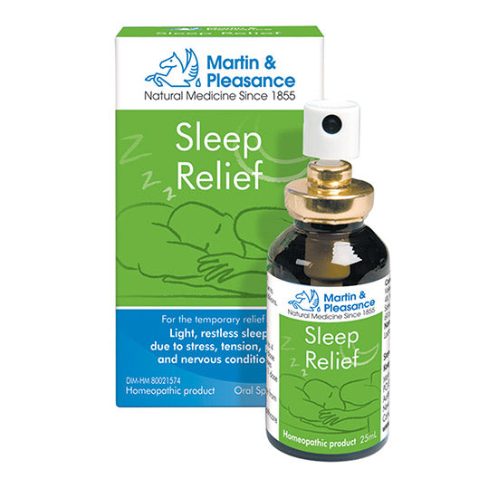 Martin & Pleasance Sleep Relief is a homeopathic formulation combined with Schuessler Tissue Salts traditionally used for the temporary relief of light, restless sleep due to stress, tension, pain and nervous conditions.
