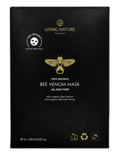 6x 20ml sachets. Living Nature's organic Bee Venom Mask combines bee venom with the natural botanicals of organic Manuka Honey