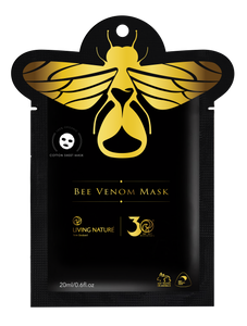 Living Nature's organic Bee Venom Mask combines bee venom with the natural botanicals of organic Manuka Honey