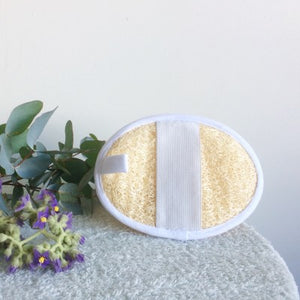Iberluffa Natural Luffas - Oval Bath Mit/back