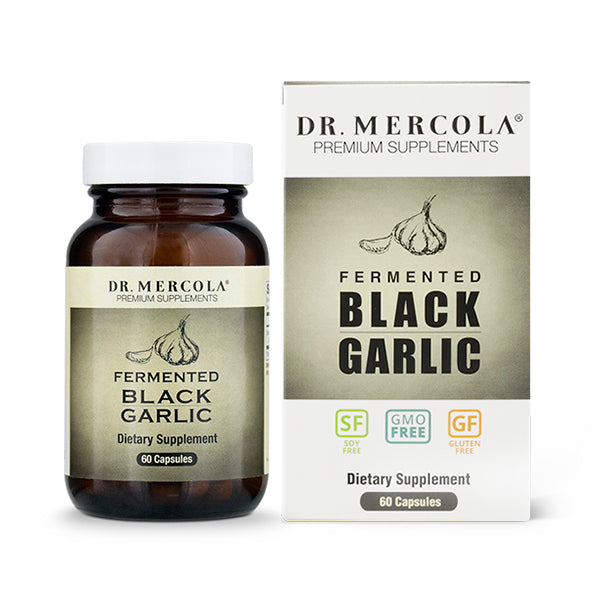 Dr Mercola Fermented Black Garlic 60 Capsules