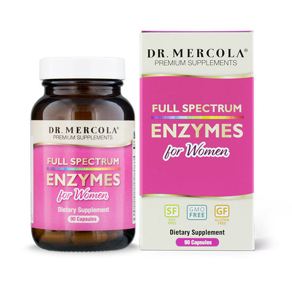 Mercola Full Spectrum Enzymes For Women 90 caps