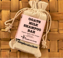 Simple Naked Goat's Milk Shampoo Bar - Apple Cider Vinegar, Rosemary & Orange