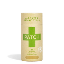 Patch Organic Bamboo Adhesive Wound Care Strips (Plaster) in Aloe Vera in Biodegradable Pack