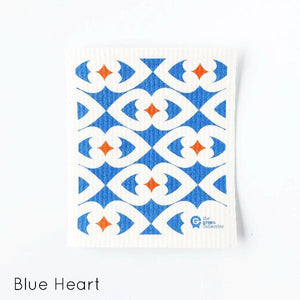 SPRUCE are made from 100% natural and renewable materials: cellulose blended with cotton. Blue Hearts Design.