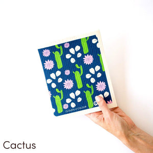 SPRUCE. A super star eco friendly dishcloth doing good things for the planet. In Cactus Design.