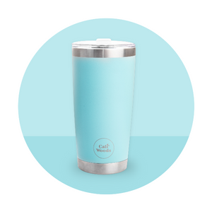 Caliwoods Hot & Cold Tumblers - Insulated Stainless Steel Reusable Cups - Ocean Blue