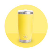 Caliwoods Hot & Cold Tumblers - Insulated Stainless Steel Reusable Cups - Yellow