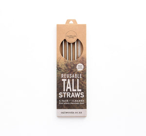 Caliwoods Tall Stainless Steel Straw Mixed Pack