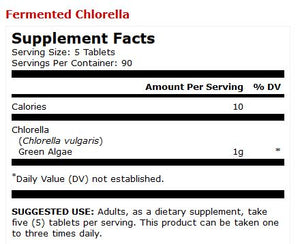 Dr Mercola Fermented Chlorella Supplement Facts