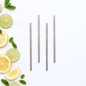 CaliWoods Stainless Steel Cocktail Drinking Straw Singles