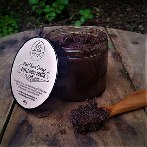 Uplifting, energising Coffee Body Scrub with real coffee grounds to increase circulation, tightening skin and leaving it feeling smoother and brighter.