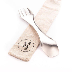 The stylish Caliwoods stainless spork is made from type 304, food-grade stainless steel and has been designed to be a sustainable, alternative to single-use plastic utensils.