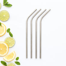 CaliWoods Stainless Steel Drinking Straws out of packaging