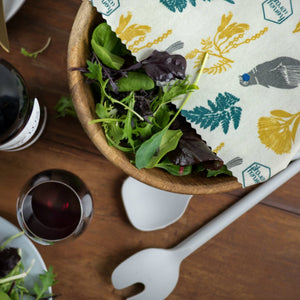 Honeywrap - Reusable Food Wrap. Medium or Large Covering a Salad Bowl