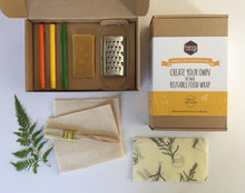 Create Your Own Honeywrap Reusable Food Wrap Kit - Contents Laid Out