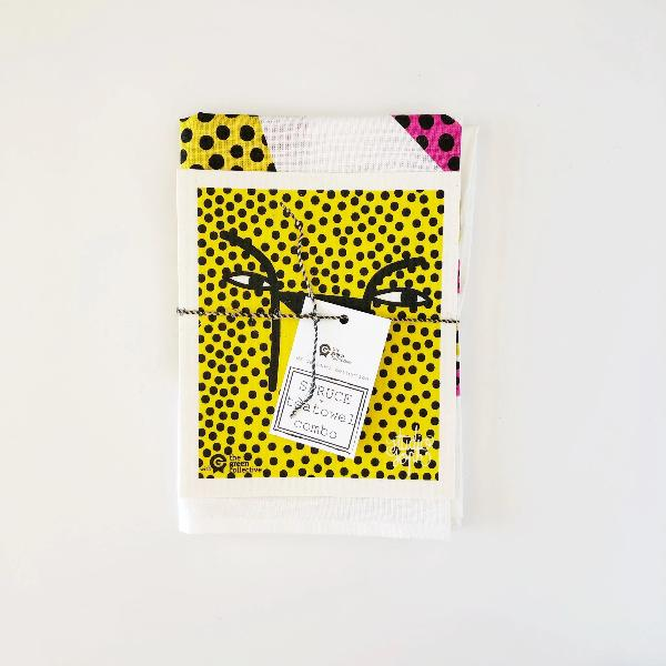 Cheetah Tea Towel and SPRUCE set