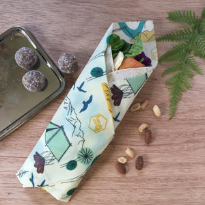 Honeywrap - Reusable Food Wrap. Camping Design Wrapping Food.