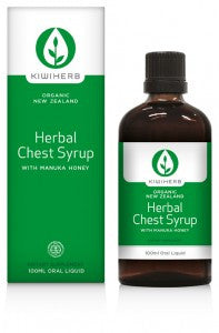 Kiwiherb Chest Syrup - to support the health of the respiratory tract & relieve coughs. 100ml