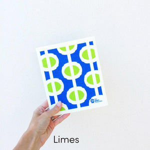 SPRUCE. A super star eco friendly dishcloth doing good things for the planet. In Limes Design.