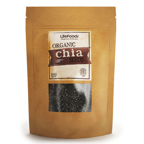 Lifefoods Organic Black Chia Seeds (Raw)