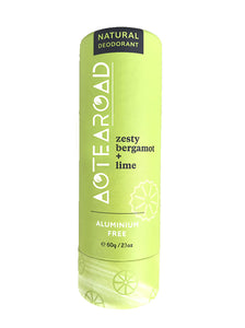 Aotearoad Natural Eco-Friendly Stick Deodorant - Zesty Bergamot & Lime