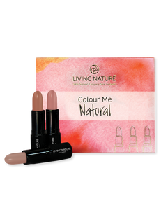 Living Nature Colour Me Natural Lipstick Pack