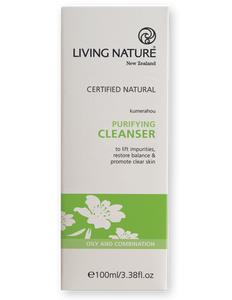 Living Nature Purifying Cleanser Packaging