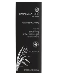 Living Nature Soothing Aftershave Gel Packaging