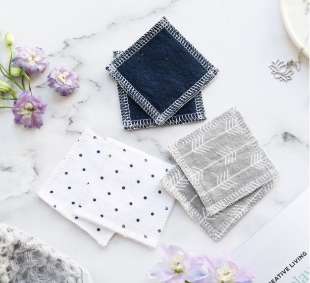 Sustainablah Reusable Makeup Removal Wipes - Soft Flannelette