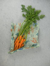 Honeywrap - Reusable Food Wrap. Ocean Design with Carrots.