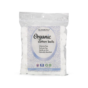 Mercola Cotton Balls. Luxurious, over-sized, soft and fluffy - you will LOVE these 100% Certified Organic Cotton balls.